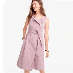 NWT J.Crew Garment-Dyed Trench Dress